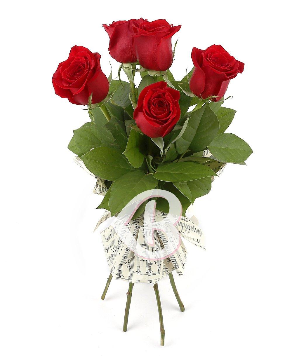 Imaginea produsului 5 trandafiri roşii