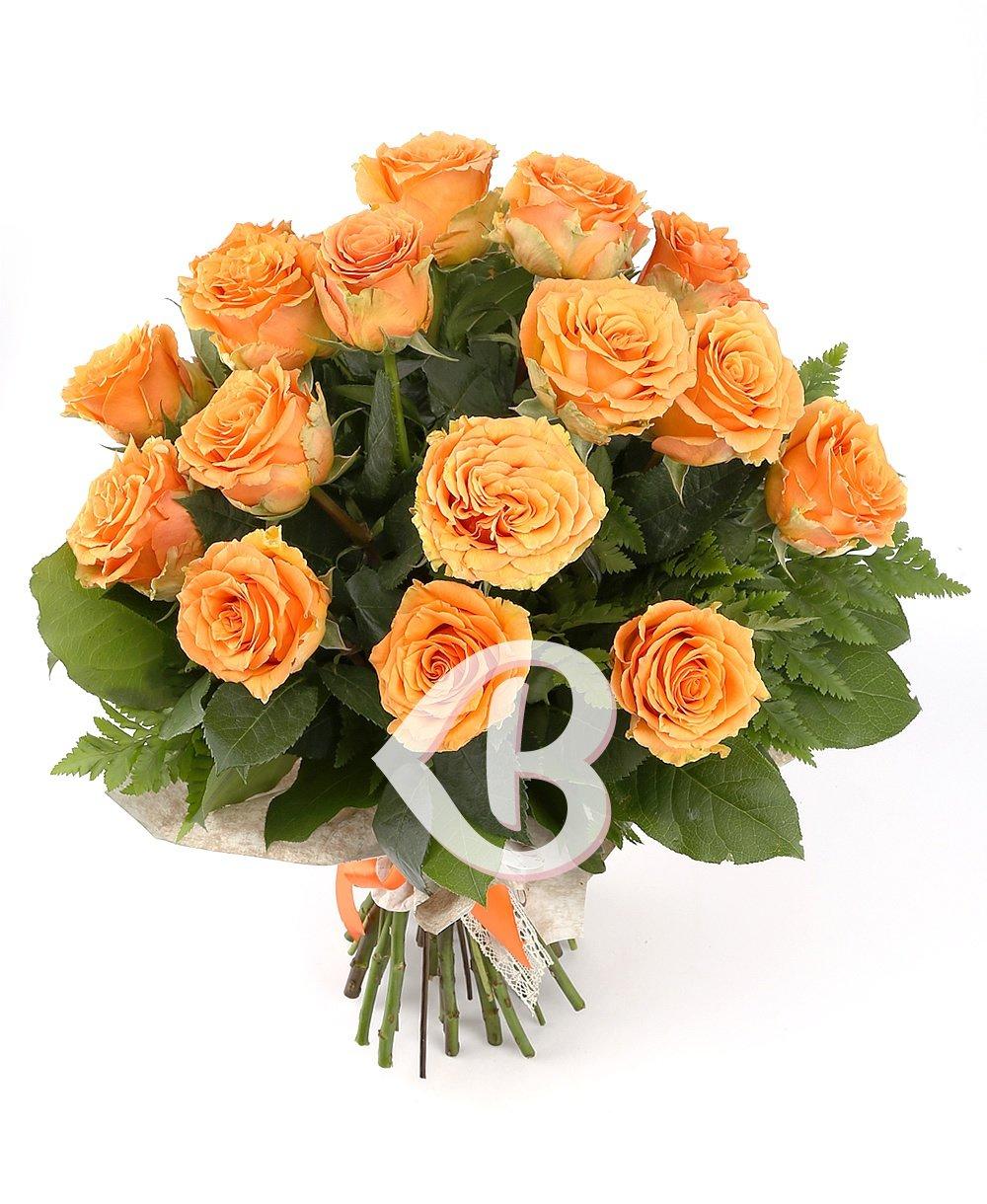 Imaginea produsului 19 trandafiri portocalii