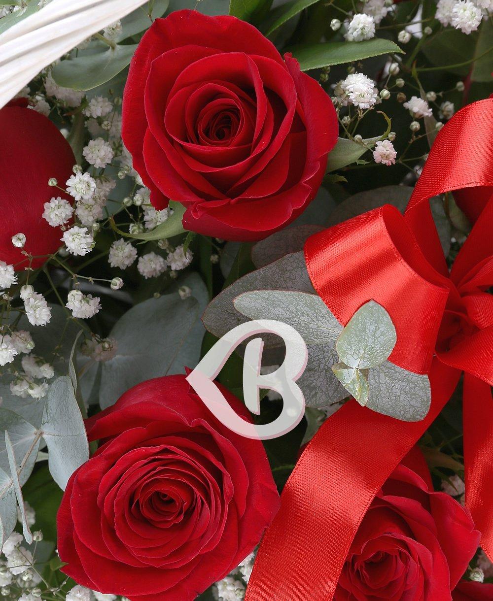 Imaginea produsului Coşuleţ Cu 23 Trandafiri Decoraţi
