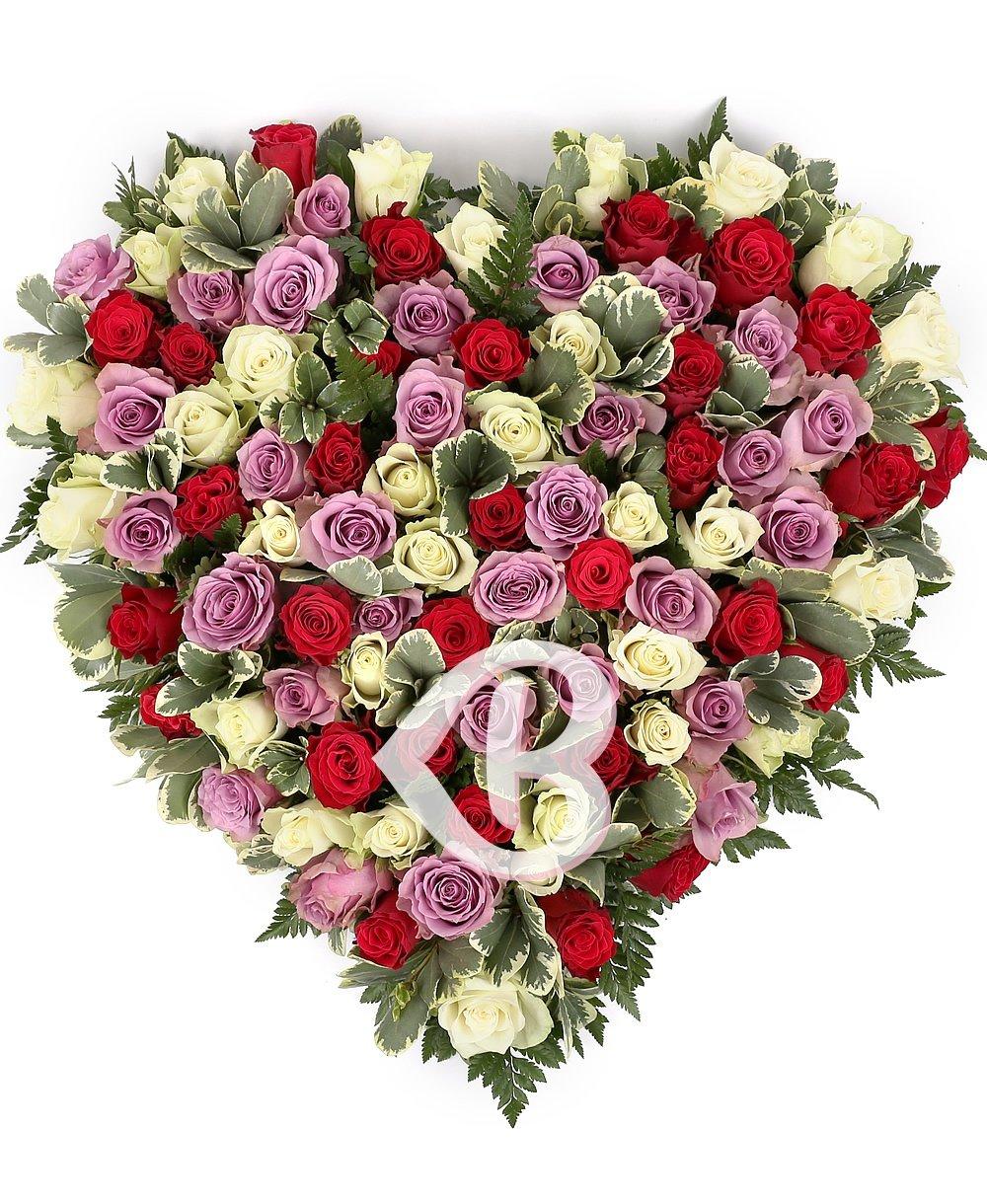 Imaginea produsului Inimă Multicoloră Trandafiri