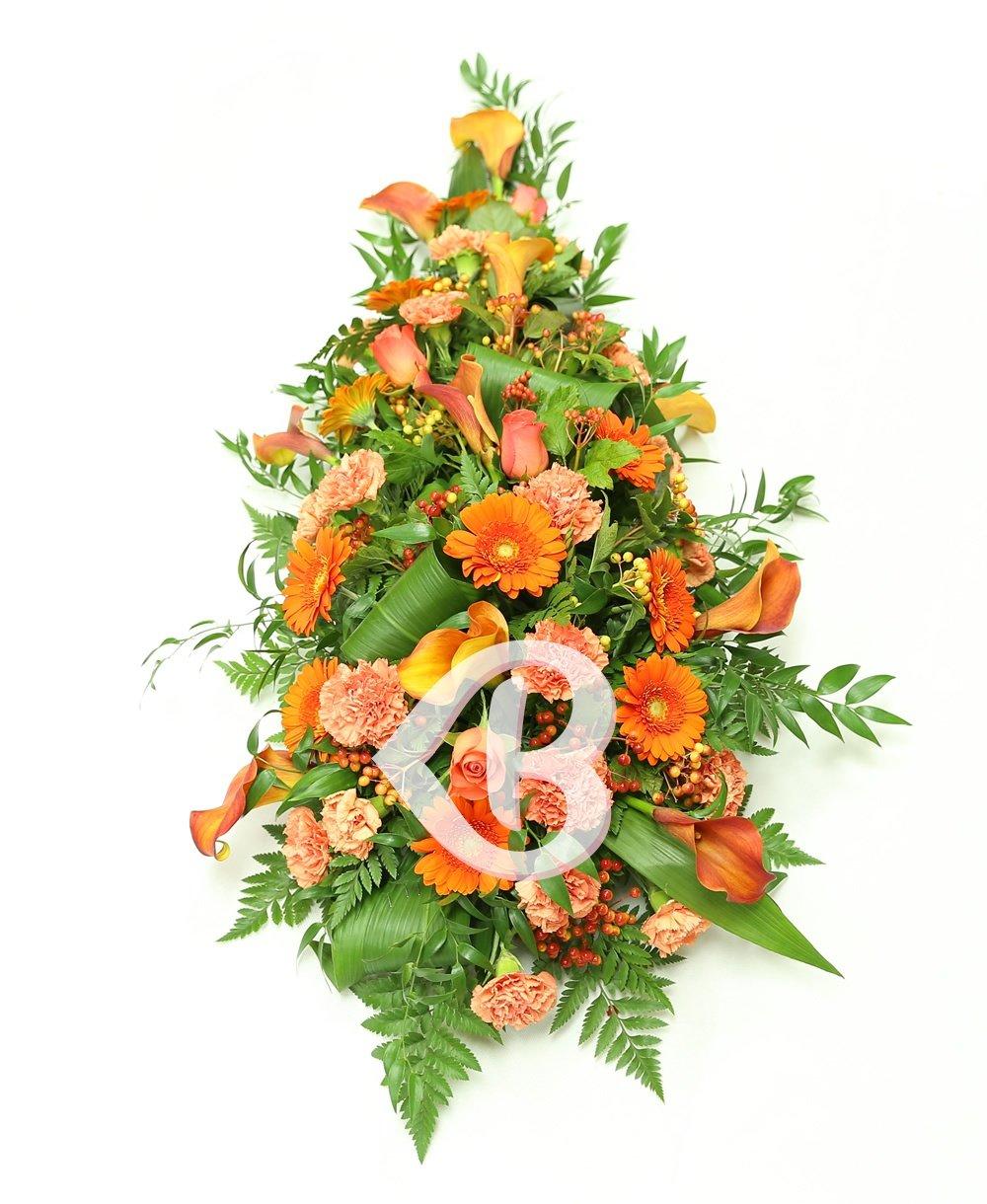 Imaginea produsului jerbă funerară portocalie