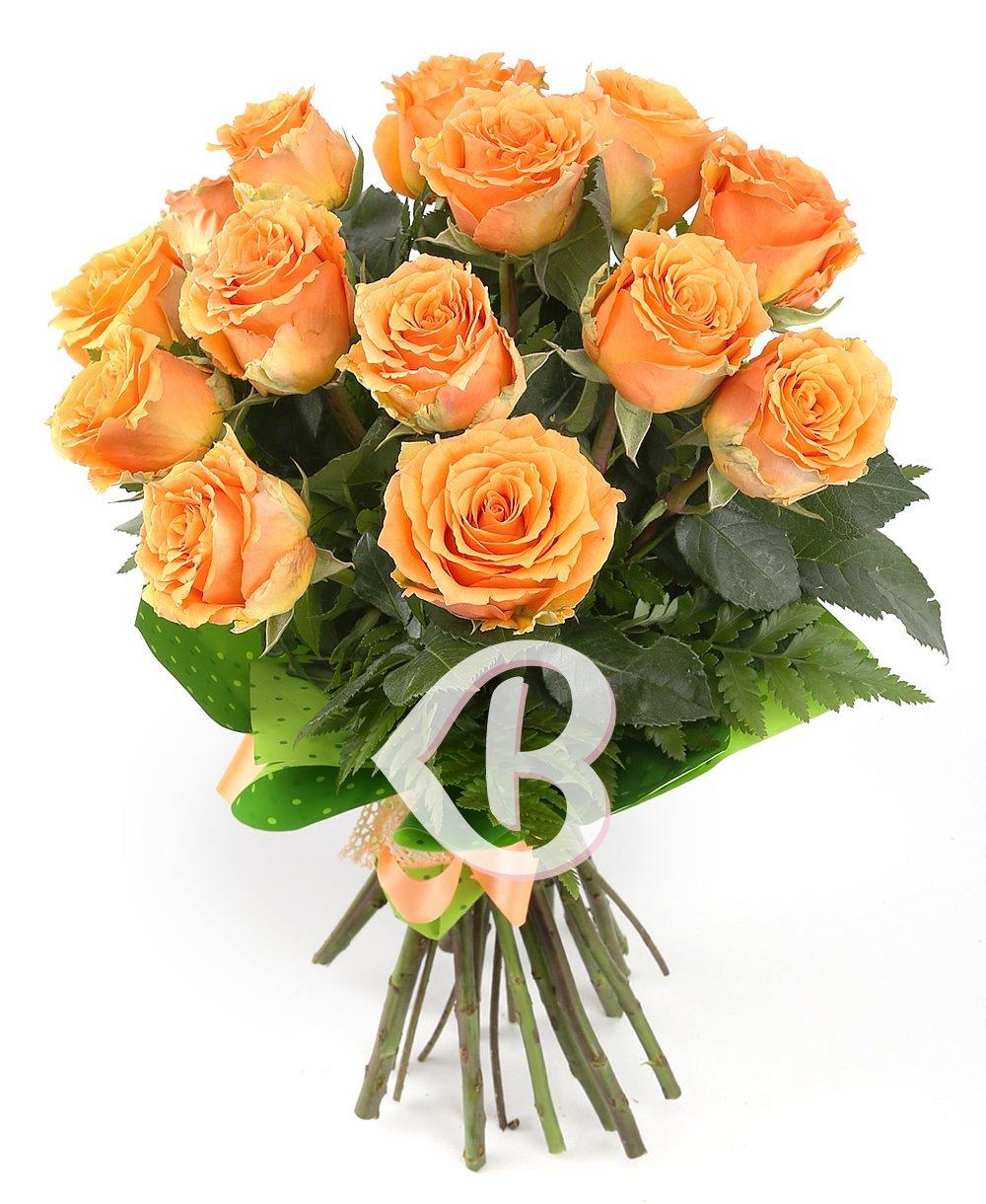 Imaginea produsului 15 trandafiri portocalii