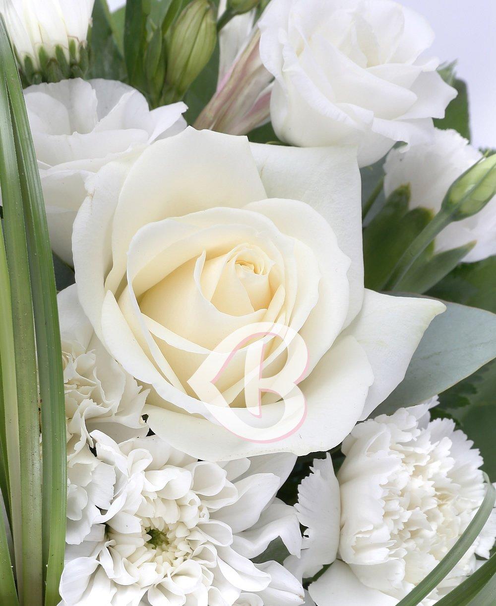 Imaginea produsului Cruce funerară albă