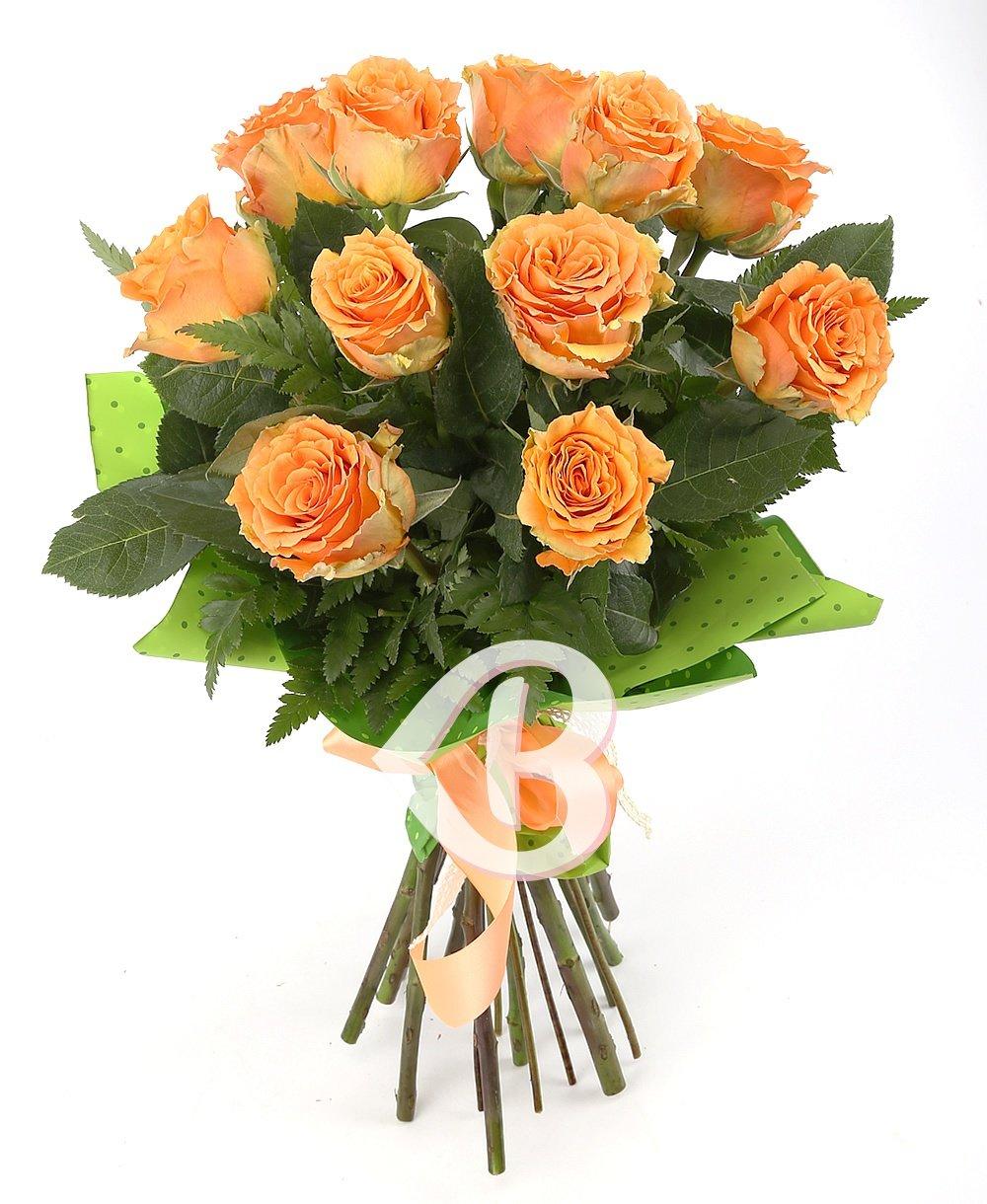 Imaginea produsului 11 trandafiri portocalii