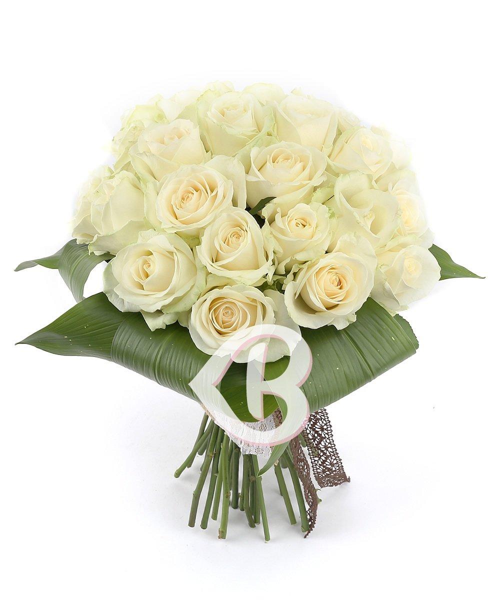 Imaginea produsului 25 trandafiri albi