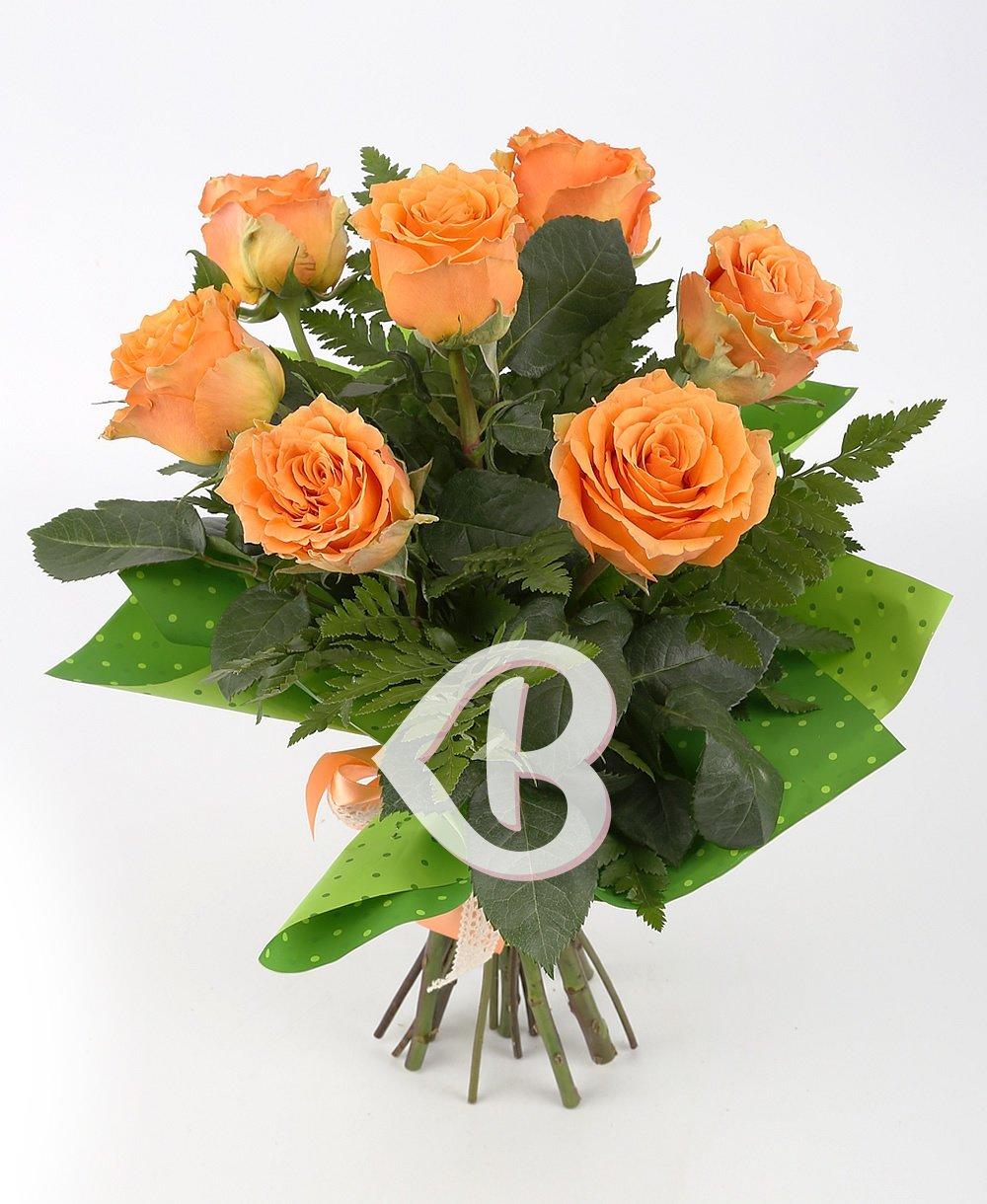 Imaginea produsului 7 trandafiri portocalii