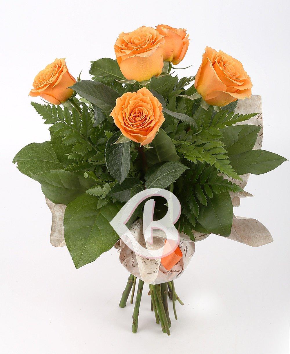 Imaginea produsului 5 trandafiri portocalii