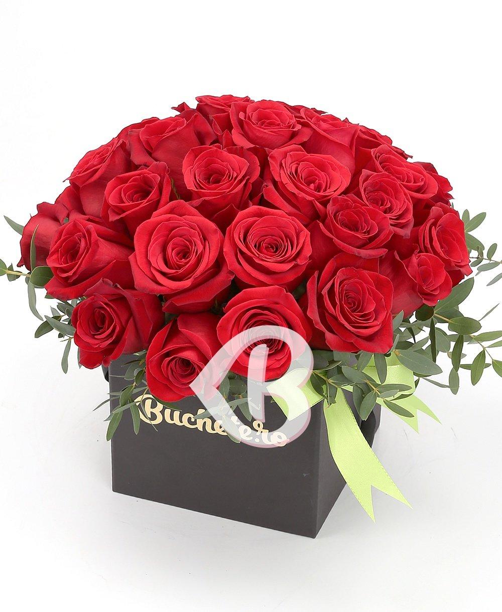 Imaginea produsului 31 trandafiri roșii în cutie
