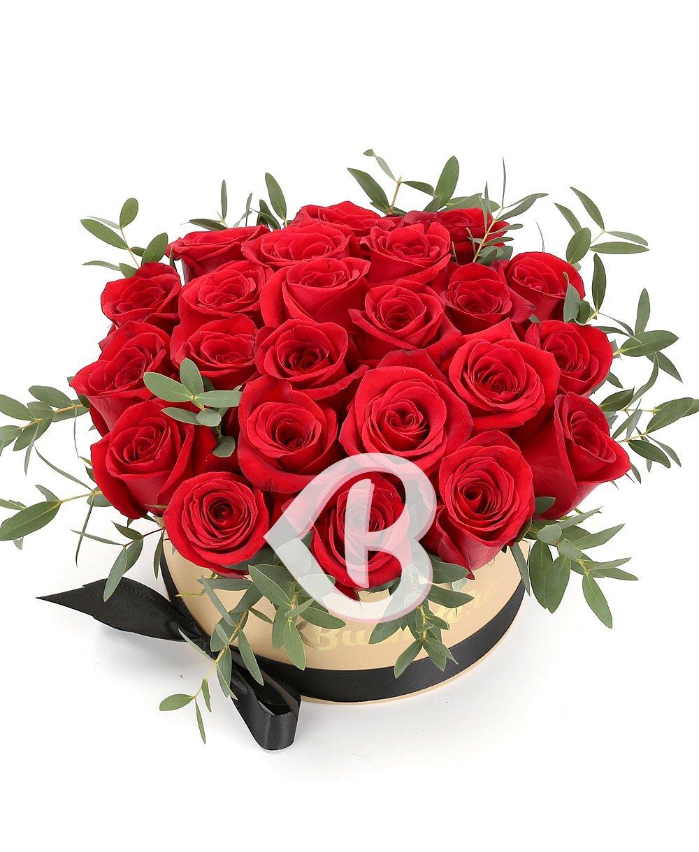 Imaginea produsului 23 Trandafiri Roșii în Cutie