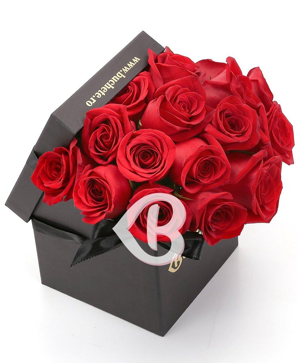 Imaginea produsului 17 Trandafiri Roșii In Cutie