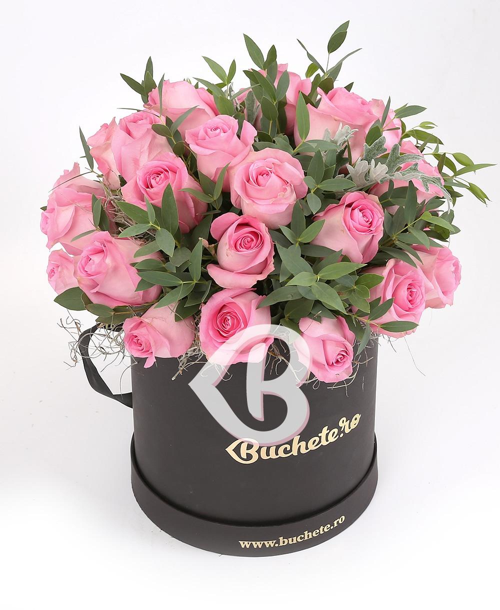 Imaginea produsului 35 Trandafiri Roz în Cutie