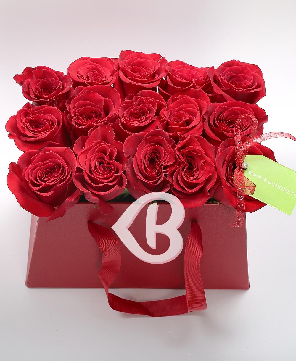 Imaginea produsului Trandafiri în Cutie Distinsă