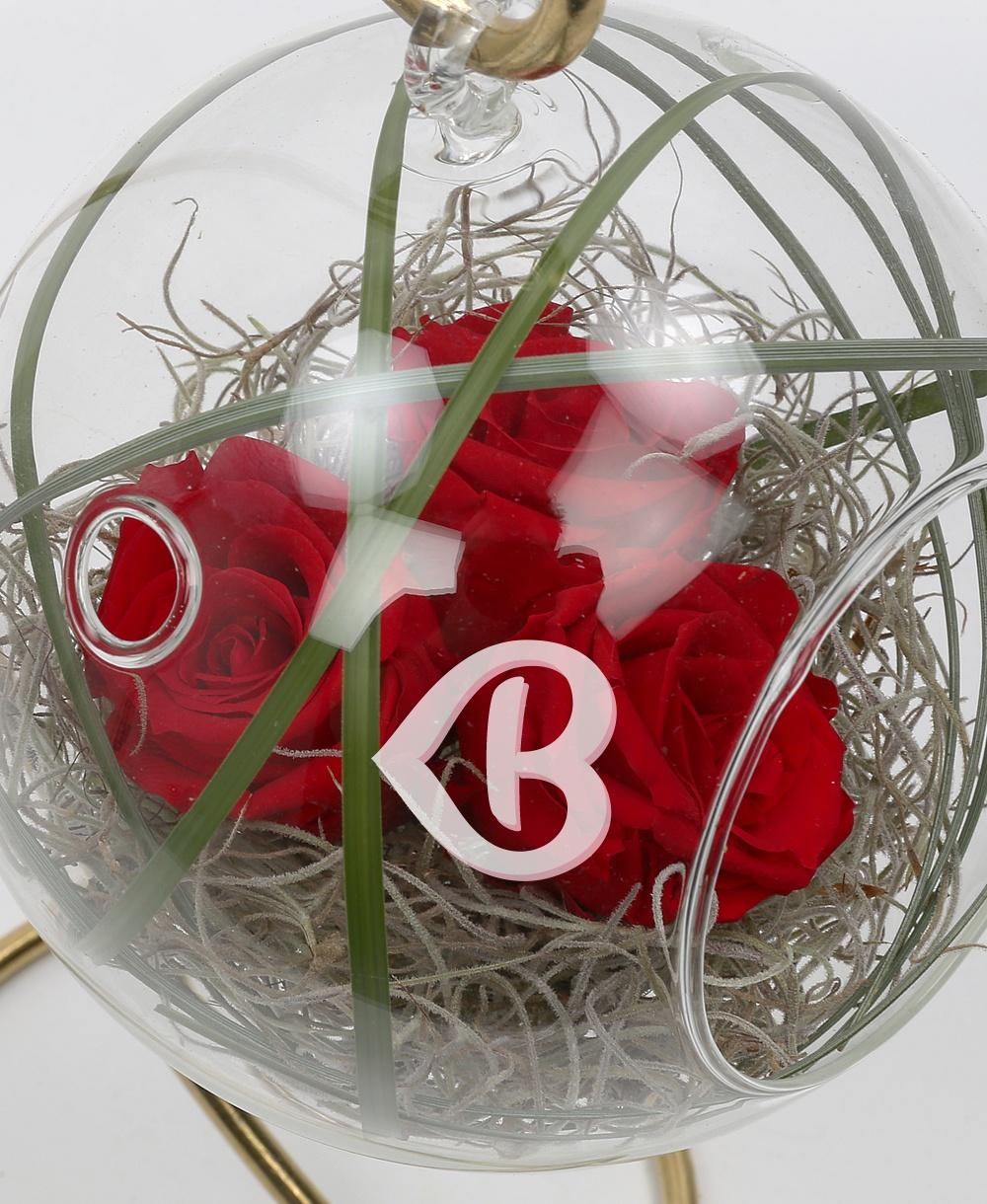 Imaginea produsului Glob Cu Trei Trandafiri Criogenați