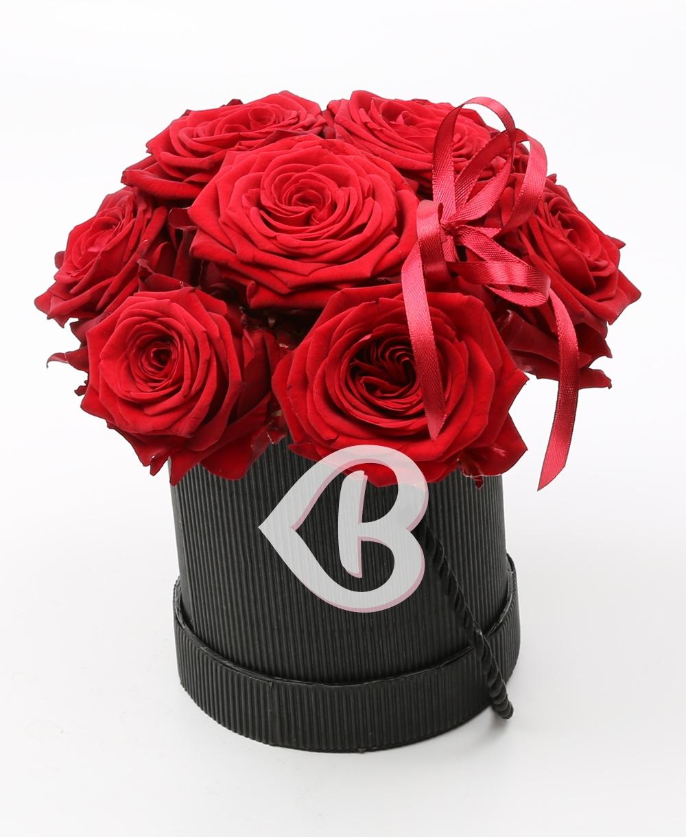 Imaginea produsului Cutie Cu 9 Trandafiri Roșii