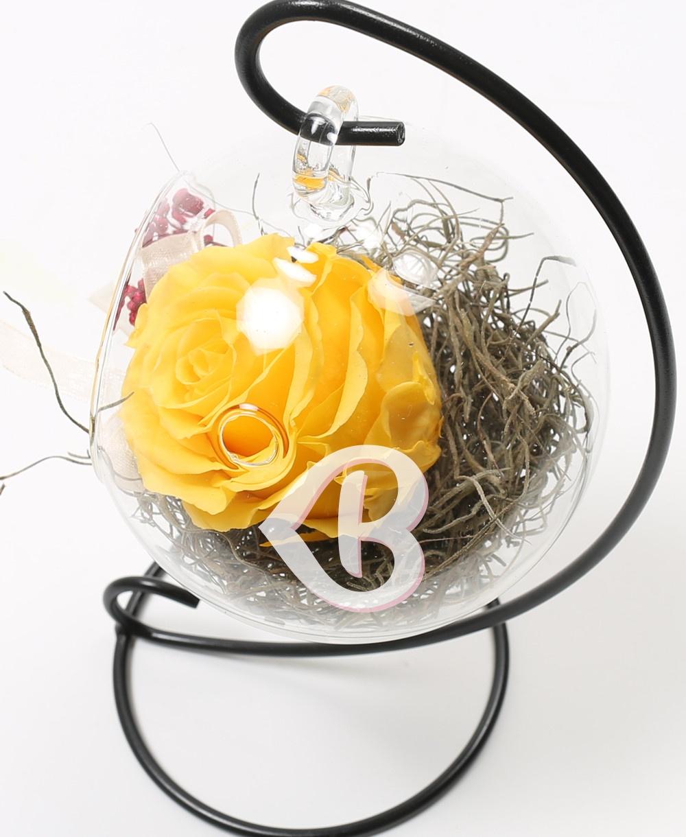 Imaginea produsului Trandafir Galben Criogenat în Glob