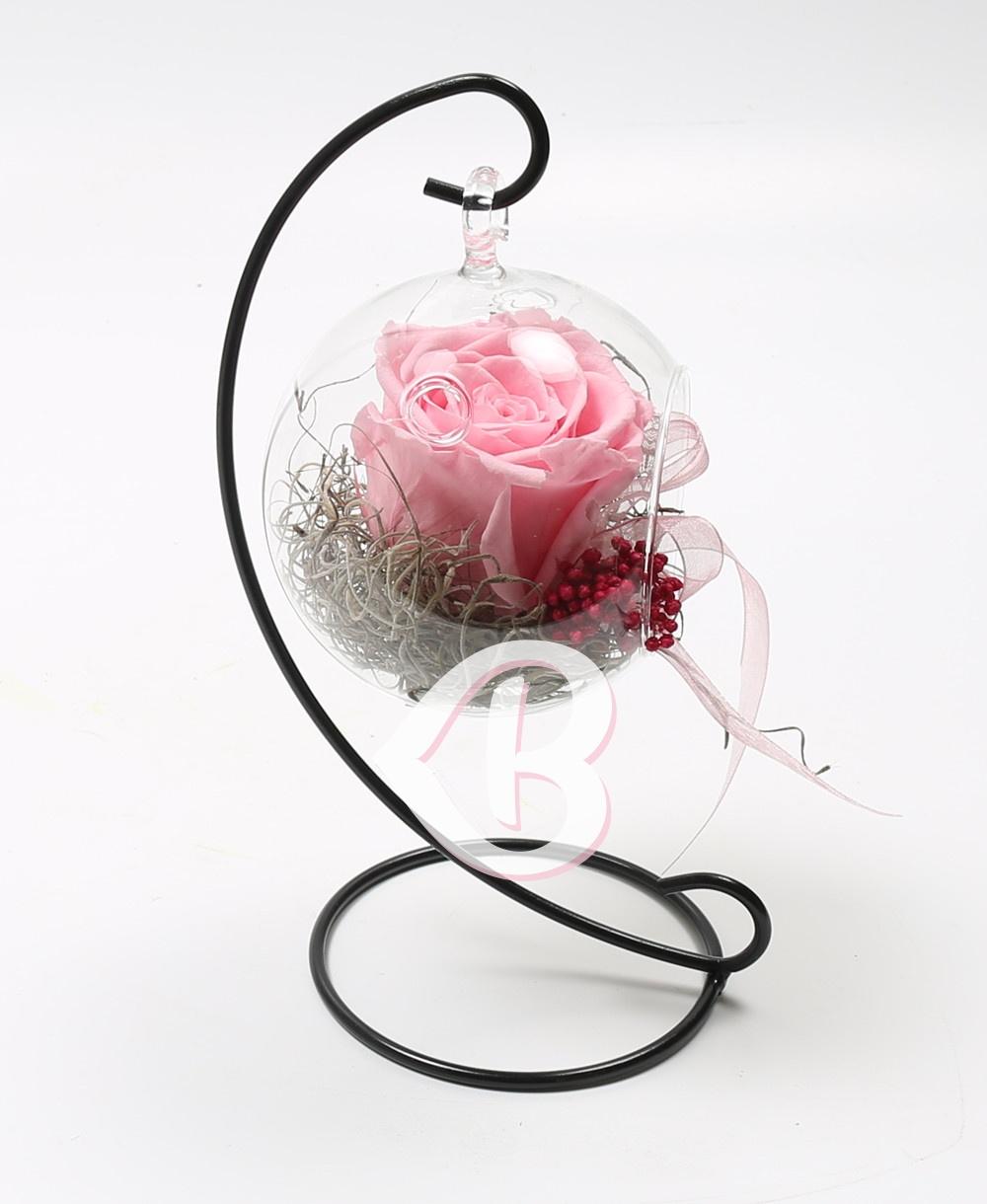 Imaginea produsului Trandafir Roz Criogenat în Glob
