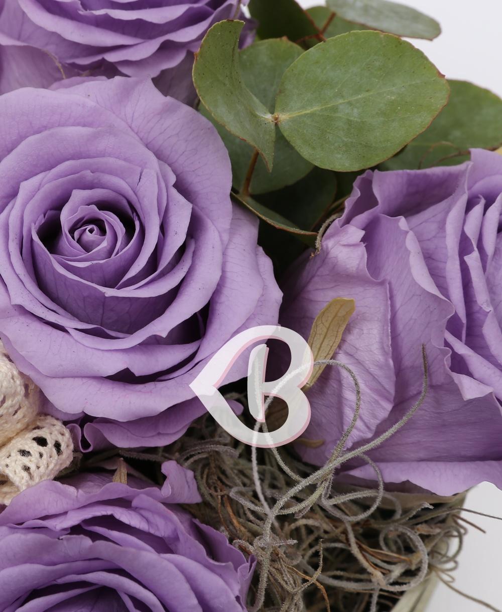Imaginea produsului 5 Trandafiri Criogenați Mov