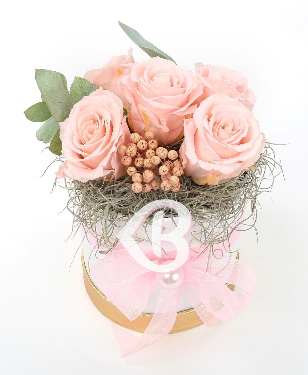 Imaginea produsului Cutie 5 Trandafiri Criogenați Roz