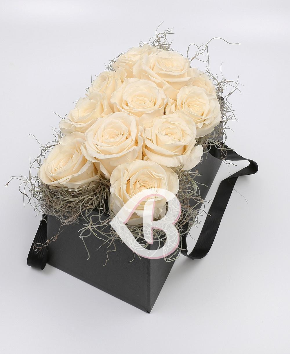 Imaginea produsului Cutie 11 Trandafiri Criogenați Albi