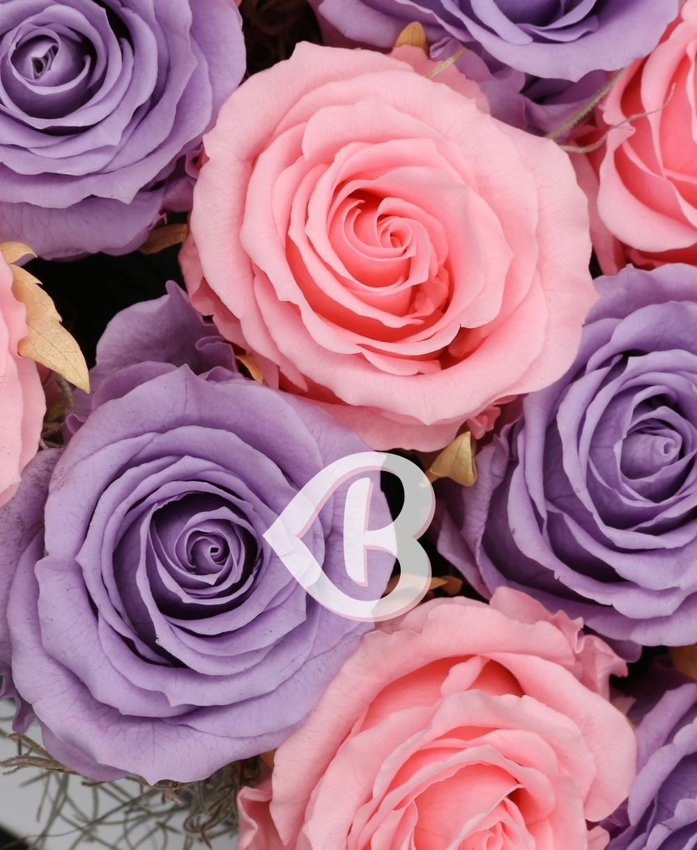 Imaginea produsului 15 Trandafiri Criogenați Mov Roz
