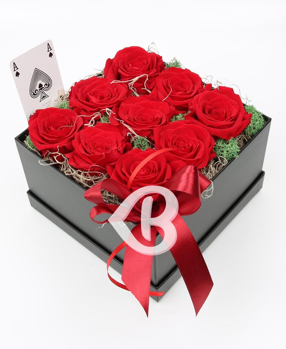 Imaginea produsului Cutie Cu 9 Trandafiri Criogenați