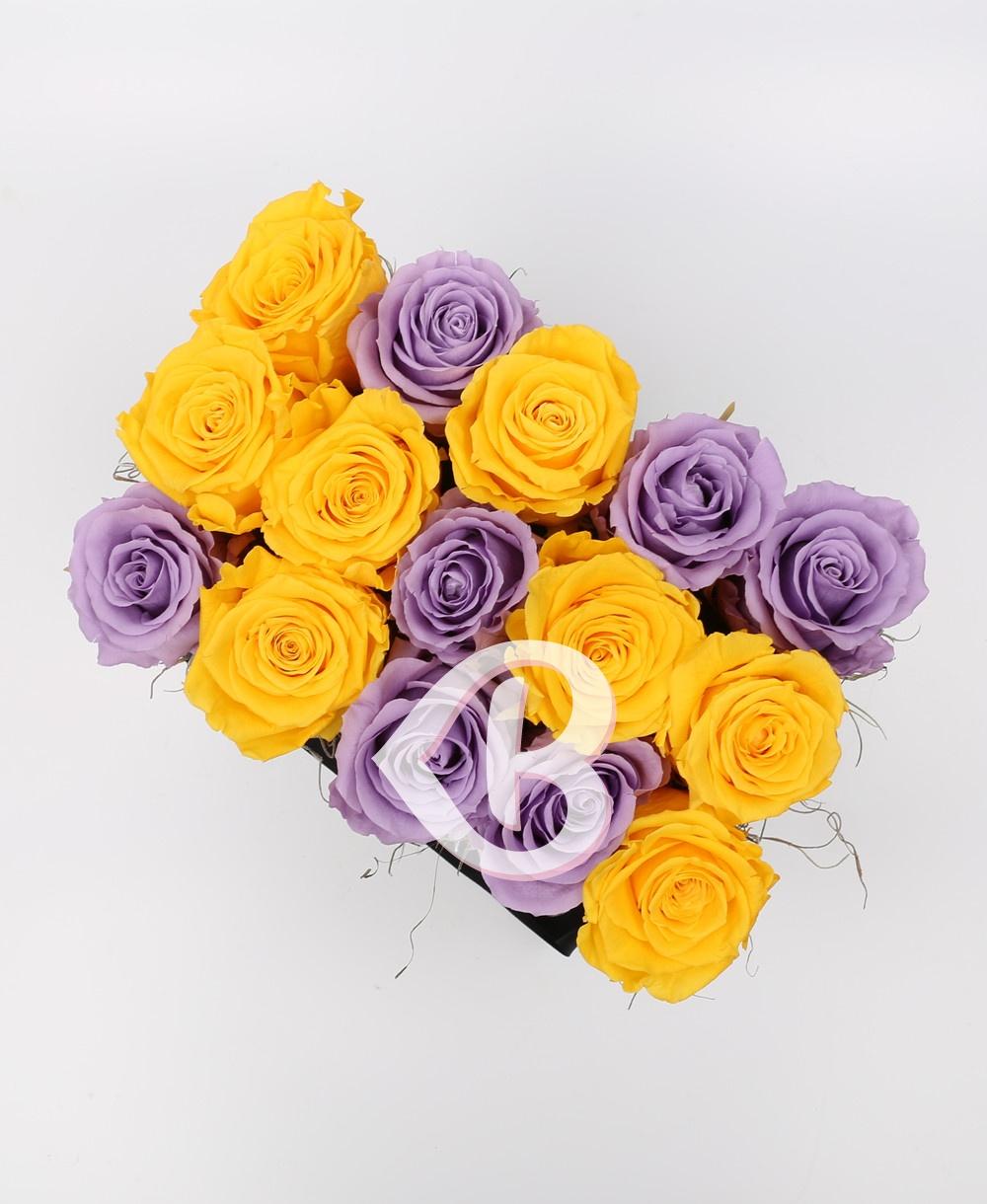 Imaginea produsului Cutie Mix 15 Trandafiri Criogenați