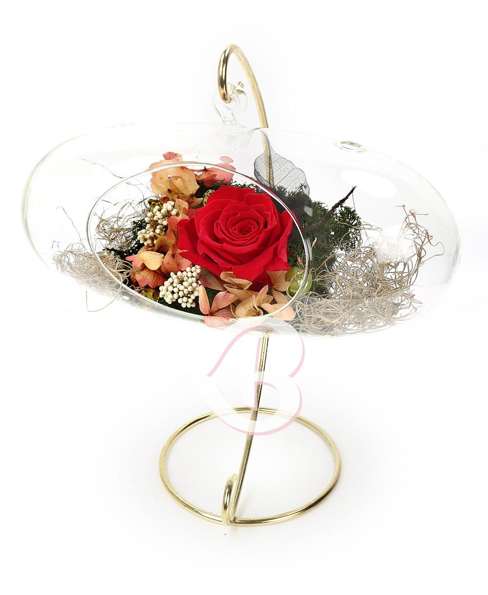 Imaginea produsului 9 Trandafiri Criogenați Tricolori