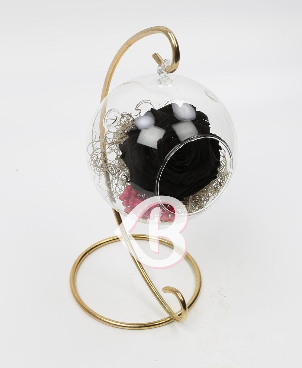 Imaginea produsului Trandafir Negru Criogenat în Glob