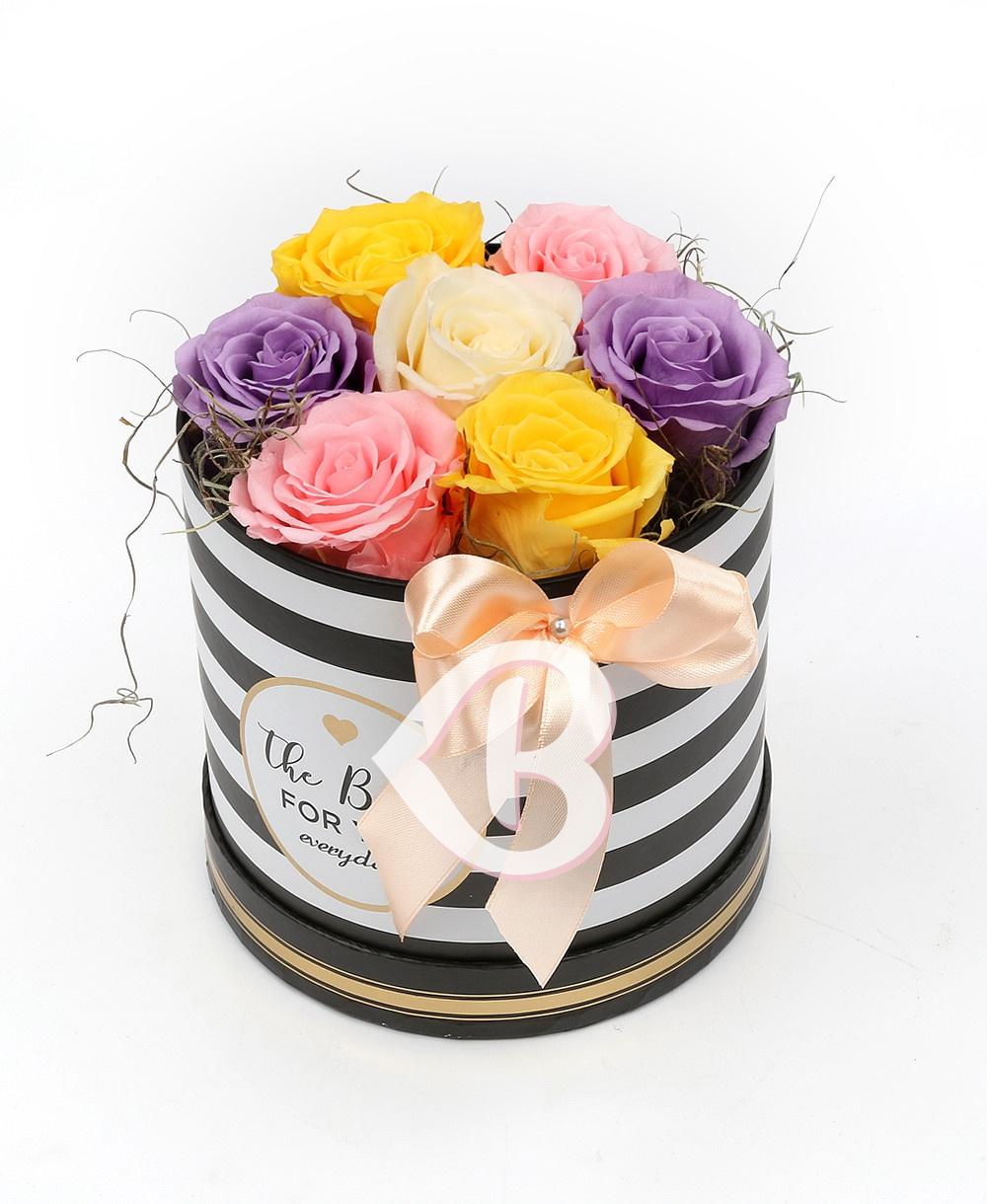 Imaginea produsului Cutie Trandafiri Criogenați Multicolori