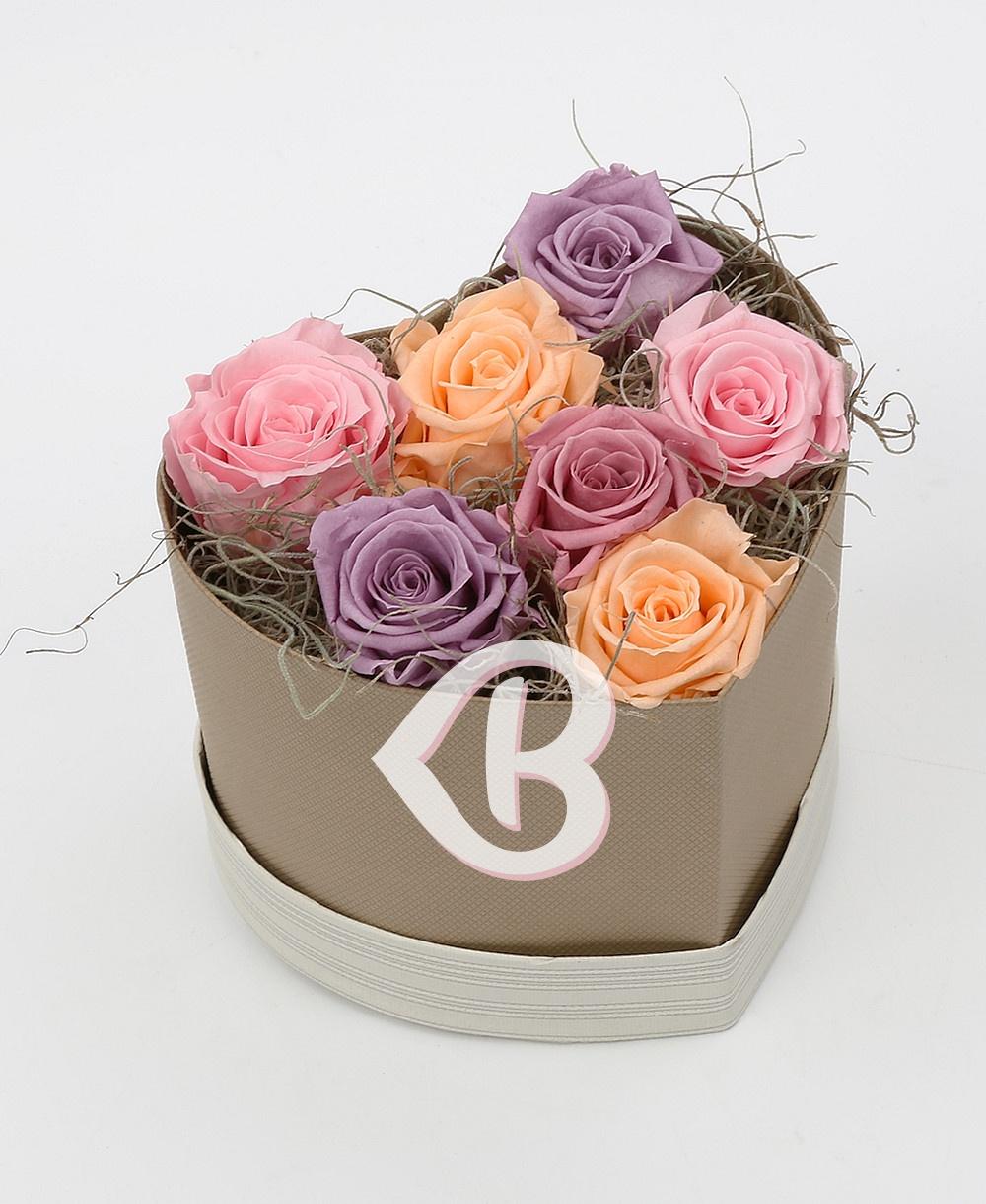 Imaginea produsului Inimă Din 7 Trandafiri Criogenați