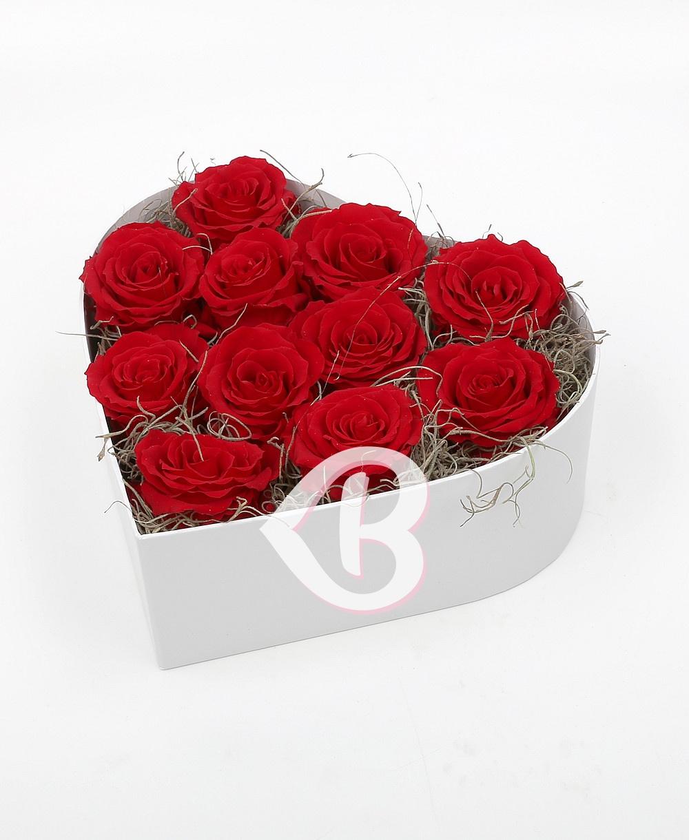 Imaginea produsului Inimă Cu 11 Trandafiri Criogenați