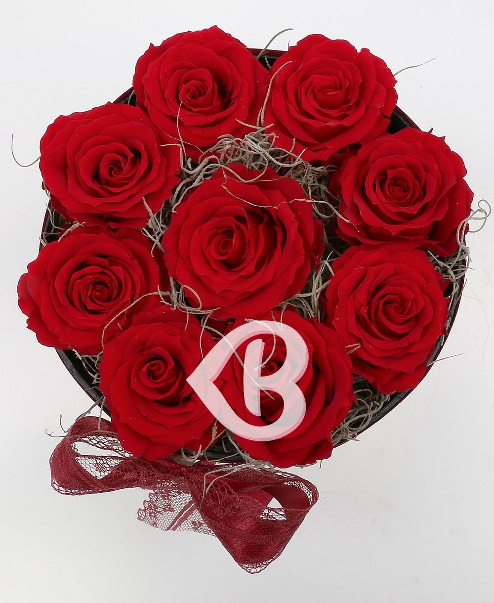 Imaginea produsului Cutie 9 Trandafiri Roșii Criogenați