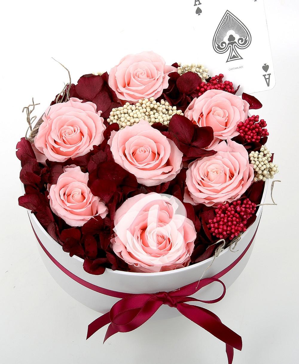 Imaginea produsului Cutie Cu Hortensia Si Trandafiri Criogenați