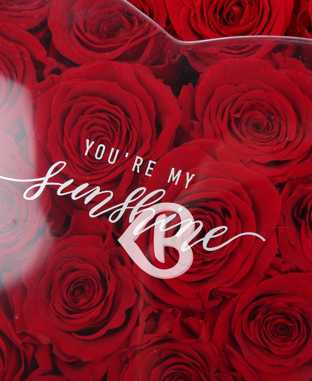 Imaginea produsului Inimă Cu 19 Trandafiri Criogenați