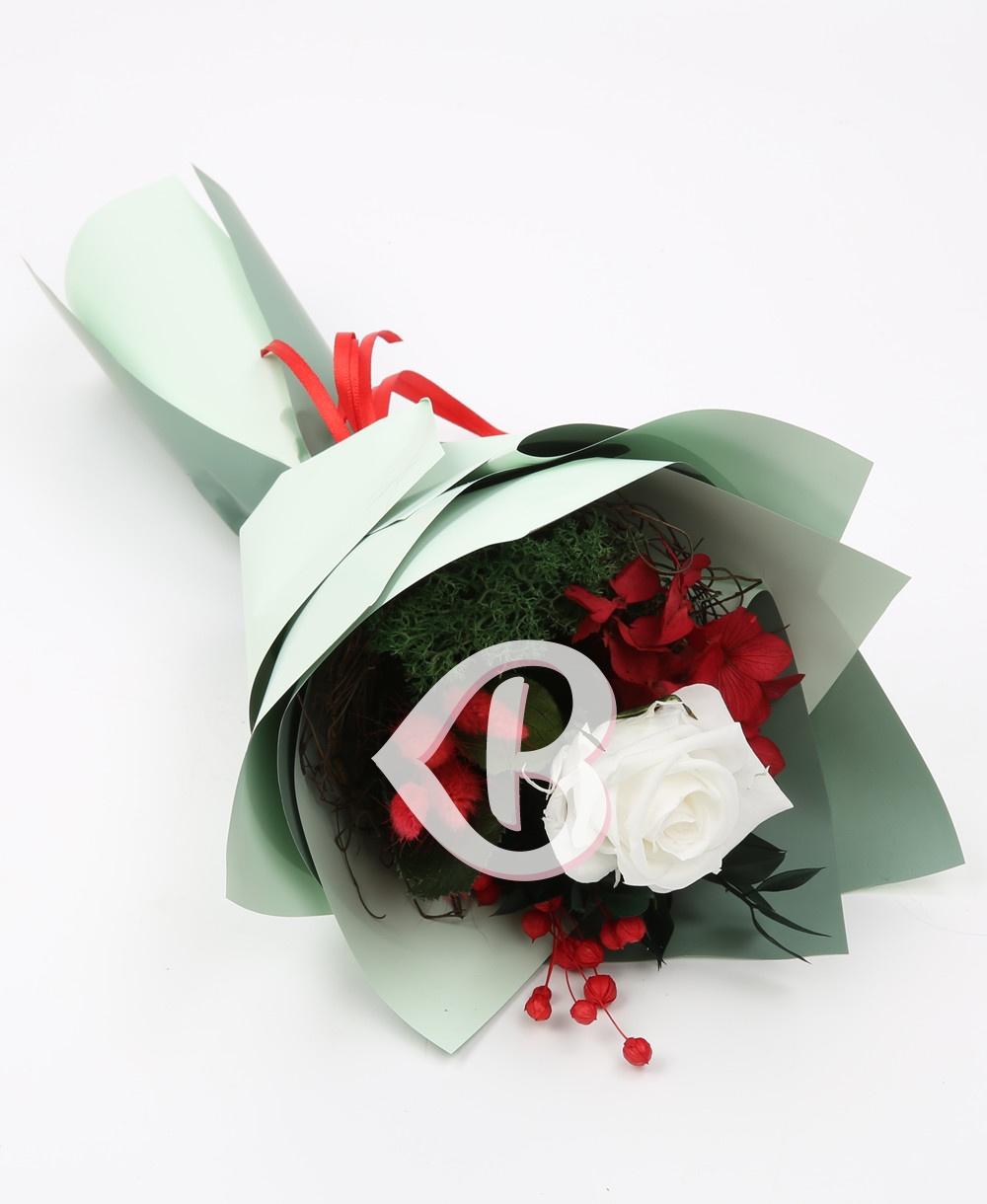 Imaginea produsului Buchet Trandafir Alb Criogenat