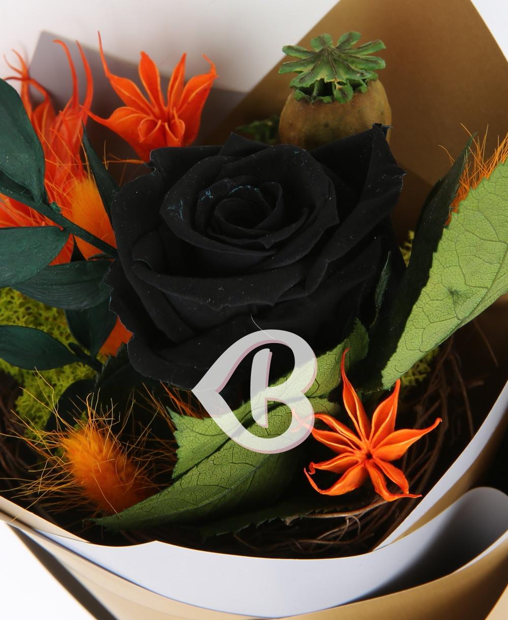 Imaginea produsului Buchet Trandafir Negru Criogenat